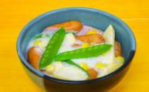 たけのことウインナ―のクリーム煮