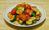 夏野菜酢豚