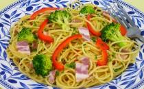 ベーコンとブロッコリーのスパゲティ