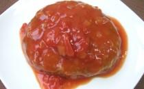 ビーフまるごとハンバーグ(トマトソース)