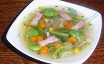 そら豆と春キャベツのコンソメスープ