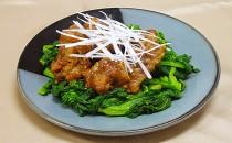 牛肉の中華風甘酢炒め菜の花添え