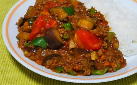夏野菜のキ―マカレー