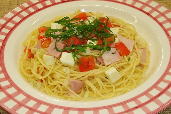 ハムとトマトの冷製スパゲッティー