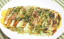 豚バラ肉と春キャベツのとん平焼き