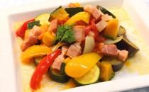 ベーコンと彩り野菜の簡単ラタトゥイユ