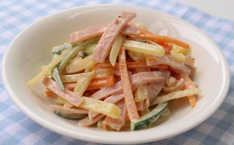 シャキシャキハムポテトサラダ