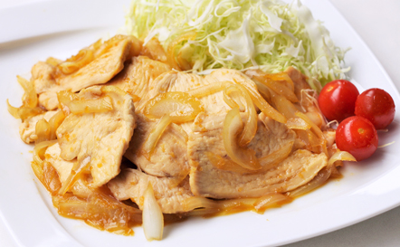 鶏ムネ肉のヘルシー生姜焼き