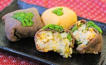 お花見に最適!牛肉と卵の手まり寿司