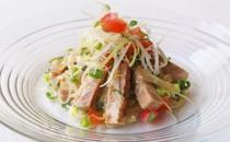 四元豚焼豚の冷製サラダ