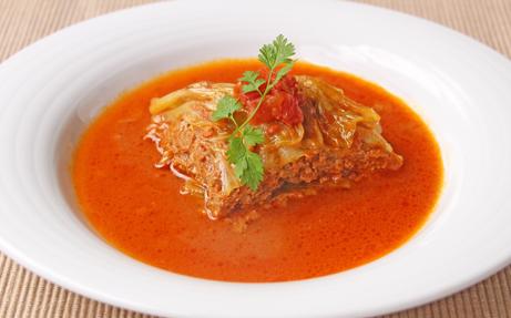 巻かないロールキャベツ トマトソース煮