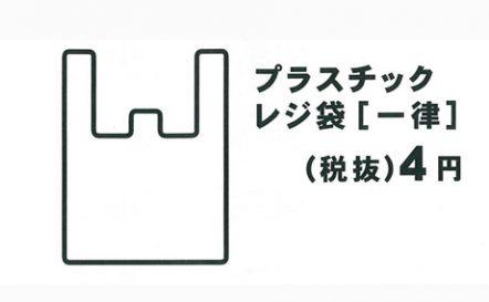 お買物袋 7月1日から有料化のお知らせ