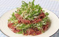 胡麻香る牛タン燻製のサラダ