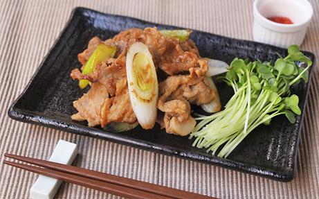 ねぎたっぷり 豚味噌生姜焼き